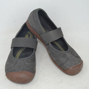 KEEN Women's Gray Slip On Fabric Mary Jane Shoes